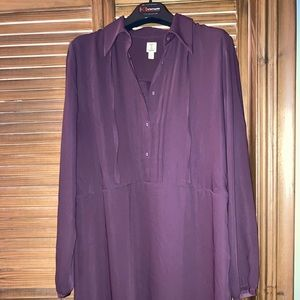 Midi Burgundy Dress perfect condition size 12